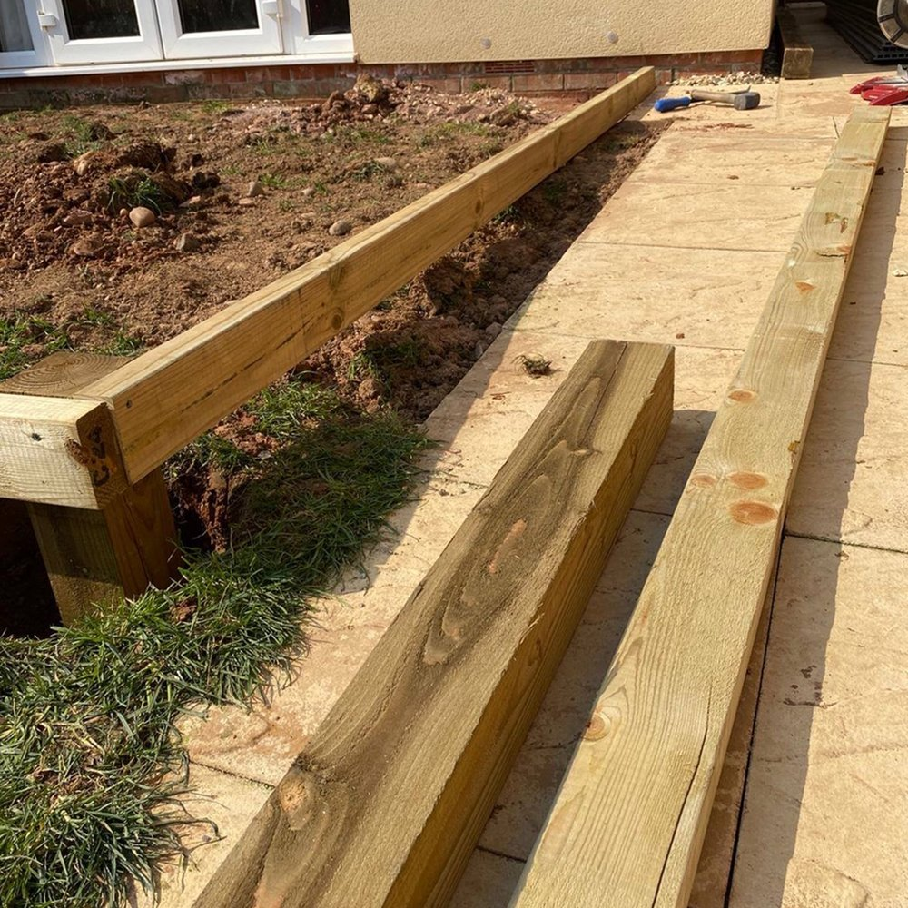 Cladco timber frame with joists and posts