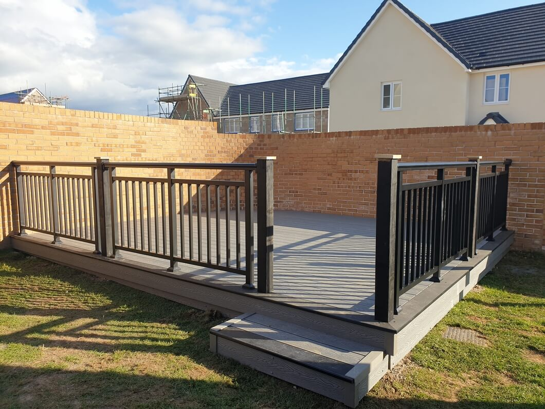 Decking area with Balustrade System
