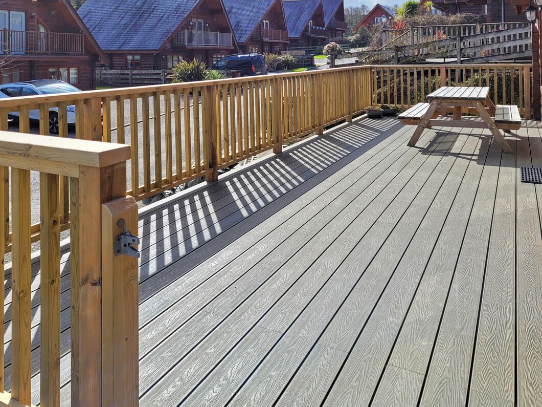 Deck using Cladco Composite Woodgrain Decking Boards