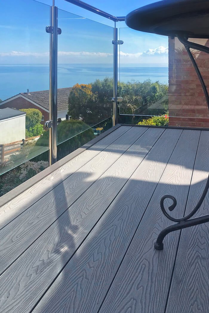 Balcony with decking