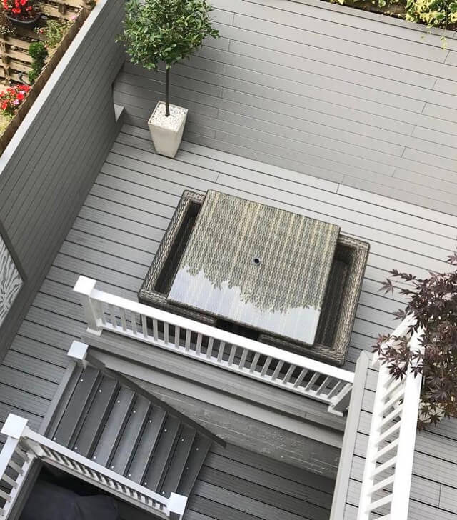 Decking in a small space