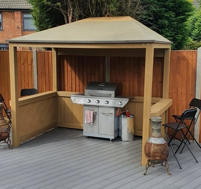 Cooking area with PVC decking