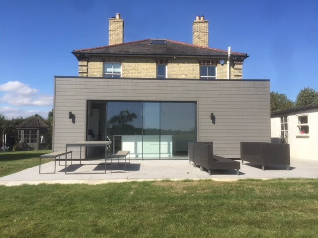 Building with Cladco Composite Stone Grey Wall Cladding