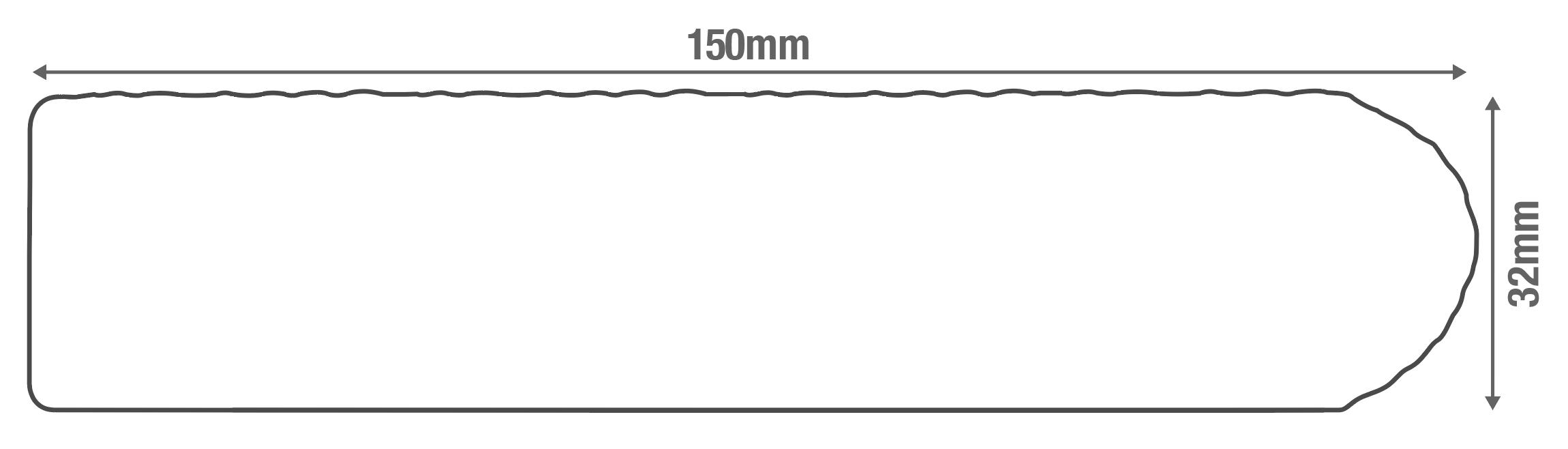 Capstock PVC-ASA Woodgrain Effect Premium Grade Bullnose Decking Board Diagram