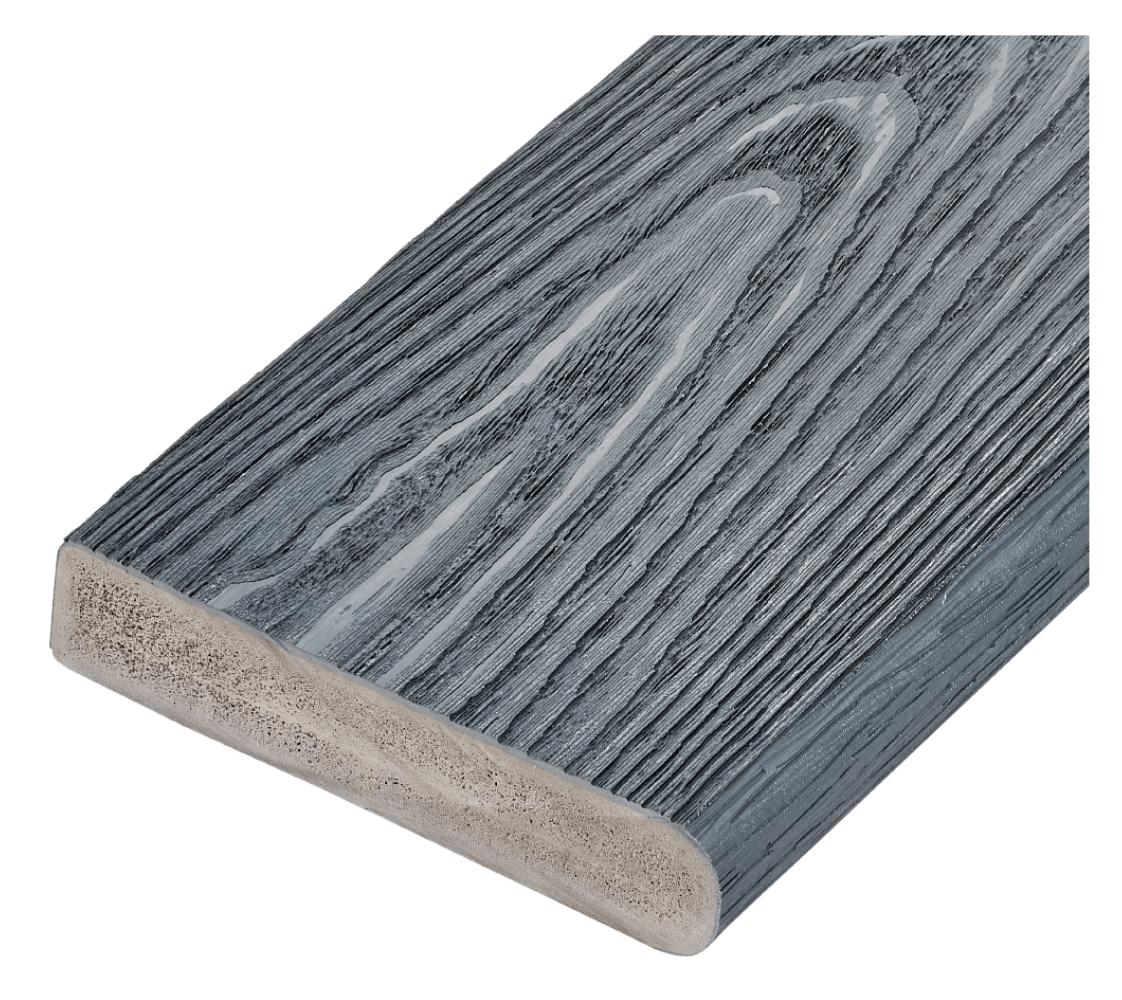 Capstock PVC-ASA Woodgrain Effect Premium Grade Bullnose Decking Board