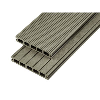 4m Hollow Domestic Grade Composite Decking Board in Olive Green