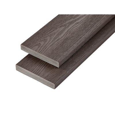 PVC-ASA Decking board 200x32mm Woodgrain sanding Ebony 3.6m