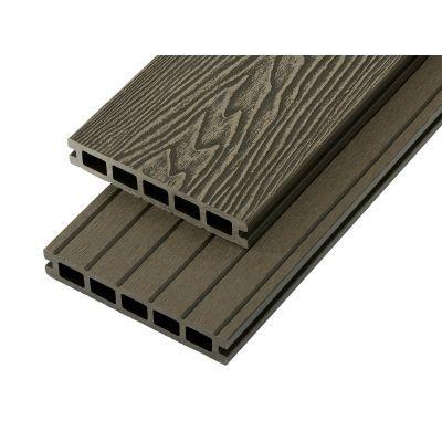 4m Woodgrain Effect Hollow Domestic Grade Composite Decking Board in Olive Green