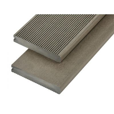 4m Solid Commercial Grade Bullnose Composite Decking Board in Olive Green