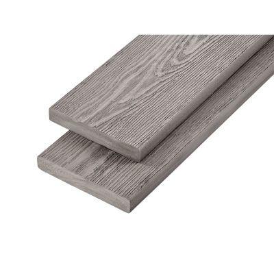 PVC-ASA Decking board 200x32mm Woodgrain sanding Silver Birch 3.6m