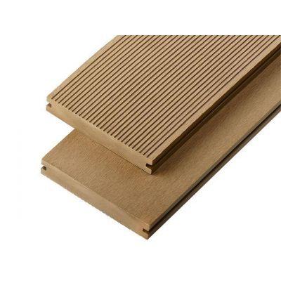 4m Solid Commercial Grade Composite Decking Board in Teak
