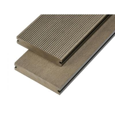 4m Solid Commercial Grade Composite Decking Board in Olive Green