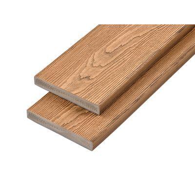 PVC-ASA Decking board 200x32mm Woodgrain sanding Chestnut 3.6m