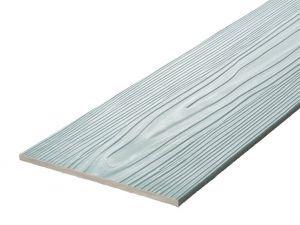 Fibre Cement Wall Cladding, Blue woodgrain C10/RAL 7001, 210mm x 8mm, 3.66m length