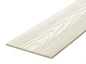 Fibre Cement Wall Cladding, Cream woodgrain C07/RAL 9001, 210mm x 8mm, 3.66m length
