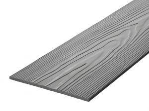 Fibre Cement Wall Cladding, Granite woodgrain C54/RAL 7022, 210mm x 8mm, 3.66m length