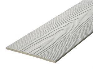 Fibre Cement Wall Cladding, Light Grey woodgrain C05/RAL 7047, 210mm x 8mm, 3.66m length