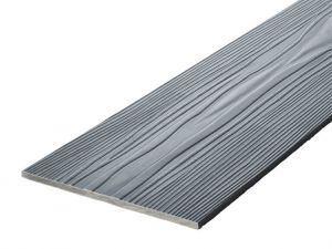 Fibre Cement Wall Cladding, Slate woodgrain C18/RAL 7024, 210mm x 8mm, 3.66m length
