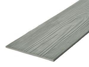 Fibre Cement Wall Cladding, Sage Grey woodgrain C05/RAL 7047, 210mm x 8mm, 3.66m length