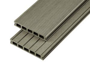 2.4m Hollow Domestic Grade Composite Decking Board in Olive Green