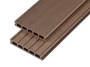 2.4m Hollow Domestic Grade Composite Decking Board in Coffee