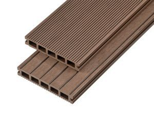 4m Hollow Domestic Grade Composite Decking Board in Coffee