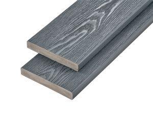 PVC-ASA Decking board 200x32mm Woodgrain sanding Ash Grey 3.6m