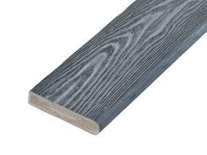 PVC-ASA Bullnose board 150x32mm Woodgrain sanding Ash grey 3.6m