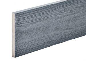 PVC-ASA Fascia board trim 140x15mm Woodgrain sanding Ash grey 3.6m