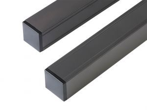 Composite Fence Posts, aluminium 68mm x 68mm Anthracite 2.7m long