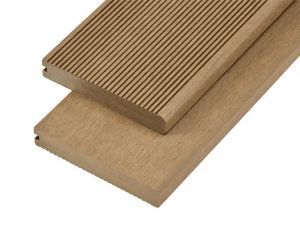 4m Solid Commercial Grade Bullnose Composite Decking Board in Teak