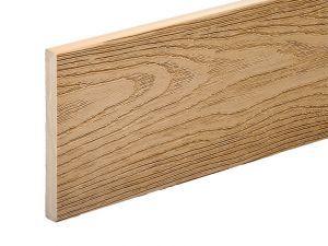 PVC-ASA Fascia board trim 140x15mm Woodgrain sanding Cedar wood 3.6m