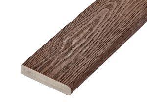 PVC-ASA Bullnose board 150x32mm Woodgrain sanding Walnut 3.6m