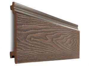 Composite Woodgrain Wall Cladding in Coffee