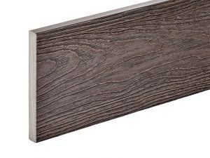 PVC-ASA Fascia board trim 140x15mm Woodgrain sanding Ebony 3.6m