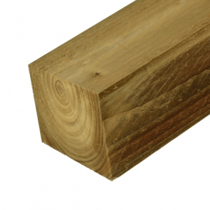 Sawn Green Treated Timber Post 100mm x 100mm x 3000mm
