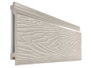 Composite Woodgrain Wall Cladding in Ivory