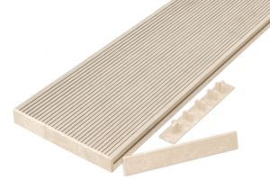Hollow Composite Decking End Caps in Ivory