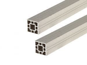 WPC Fence Panel Post 3m -Ivory