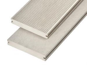 4m Solid Commercial Grade Composite Decking Board in Ivory