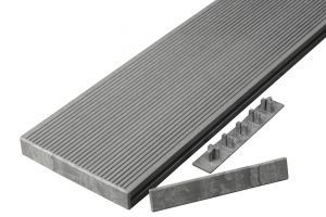 Hollow Composite Decking End Caps in Light Grey