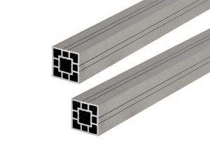 WPC Fence Panel Post 3m -Light Grey