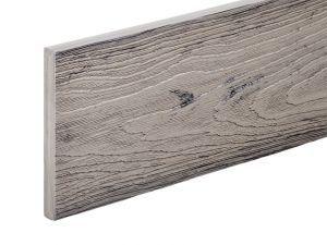 PVC-ASA Fascia board trim 140x15mm Woodgrain sanding Silver Birch 3.6m