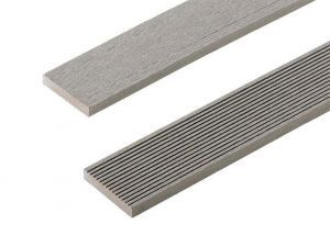 Composite Decking Skirting Trim in Stone Grey