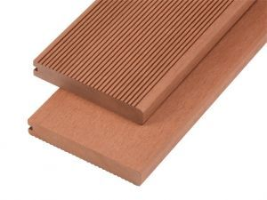 4m Solid Commercial Grade Bullnose Composite Decking Board in Redwood