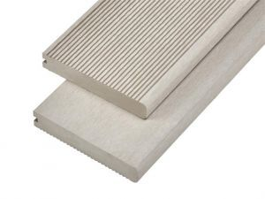 4m Solid Commercial Grade Bullnose Composite Decking Board in Ivory