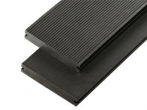 2.4m Solid Commercial Grade Composite Decking Board in Charcoal