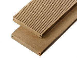 2.4m Solid Commercial Grade Composite Decking Board in Teak