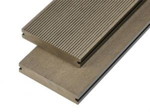 2.4m Solid Commercial Grade Composite Decking Board in Olive Green