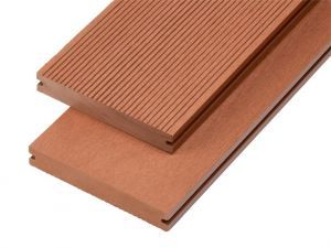 4m Solid Commercial Grade Composite Decking Board in Redwood